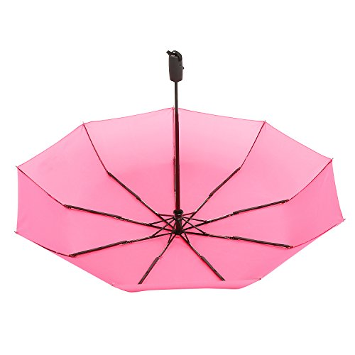 Repel Windproof Travel Umbrella with Teflon Coating (Pink)