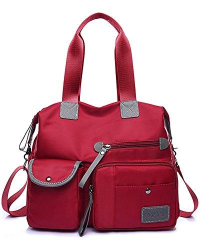 Handbag Bag Red handbag Shoulder Tote Fashion Pocket Travel Work Hobo Shopping Women's Bags and Multi for Large wXxdWa48q