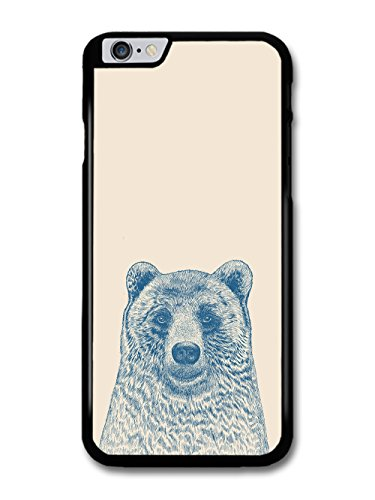 Cool Cute Funny Bear Illustration in Blue Hand Drawn Style case for iPhone 6 Plus 6S Plus