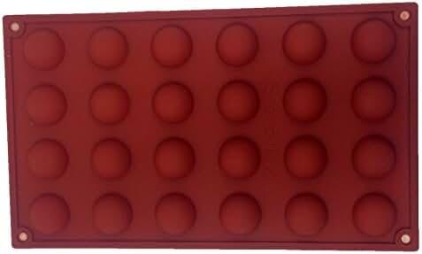 FUNSHOWCASE Mini 24 Cavites Hemisphere Dome Silicone Mold