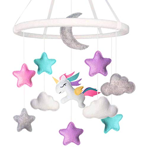 - Land of Luna Unicorn Baby Mobile for Girl Nursery Decor (2019 New Design)