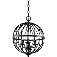 Bel Air Lighting Sequoia 3-Light Rubbed Oil Bronze Pendant