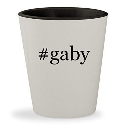 #gaby - Hashtag White Outer & Black Inner Ceramic 1.5oz Shot Glass
