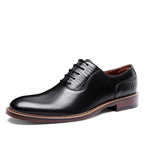 Antiscivolo Stringate Zhrui 42 Morbide Durevoli colore Eu Traspiranti Scarpe For Oxfords Nero Marrone Comfort Men Dimensione IFfq1fx