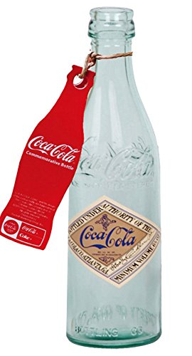 Glass Coca-Cola Straight Sided Bottle Replica with Tag