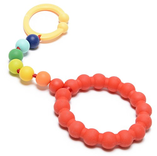 Chewbeads - Gramercy Baby Teething Car Seat Toy and Stroller Toy (Rainbow). 100% Safe Silicone Infant Teething Toy for Car Seats and Strollers. BPA Free (Car Seat Toys Organic)
