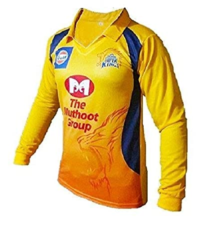 0535f90ff Buy Amaze CSK IPL T-20 Cricket Full Sleeve Dhoni 7 Jersey 2018, X-Large  Online at Low Prices in India - Amazon.in