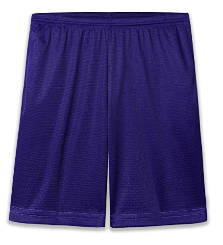 SYHBBD Basketball Shorts for Men - Mens Shorts Athletic - Quick Dry Mesh Short with Two Pockets(XL, Dark Purple) ()