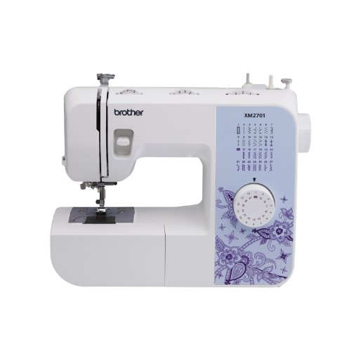 Brother XM2701 light 100 % Featured Sewing machine with 27 Stitches 1 action Auto Size Buttonholer 6 Sewing Feet and Instructional DVD family home Kitchen Features