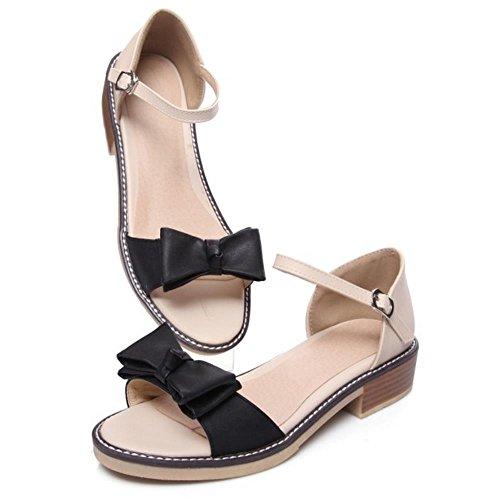 COOLCEPT Damen Plateau Sandalen Ankle Strap Sommer Schuhe