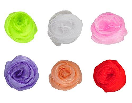HERRICO Aesthetic Stylish Decorate Fun Magic Show Scarves Multicolor 6PCS (Preschool Apparel)