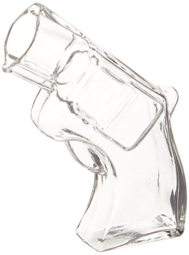 Thumbs Up UK REVSHOTGLS Revolver Shot Glass, Clear