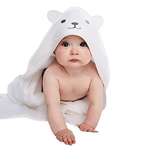 Royal Babies - Save an Extra 20-40% USE Promo Code ROYALBABY20 | Hooded Toddler Bath Towel | Large Plush White Cotton Bear | Hooded Towel for Toddler Boys Girls| Hooded Baby Towel Girl Or Boy| -