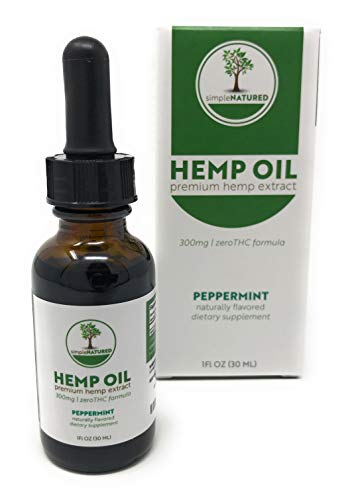 Simple Natured Hemp Oil Drops (Peppermint)