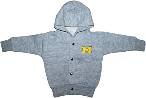 University of Michigan Wolverines Outline Block M Baby Snap Hooded Jacket