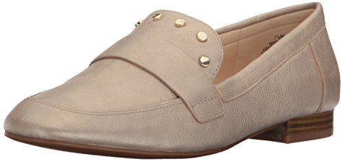 Nove West Womens Ximon Metallic Loafer Flat Light Gold