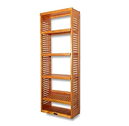 Amazoncom 4 Tier Solid Wood Storage Shelf Tower Great Organizer