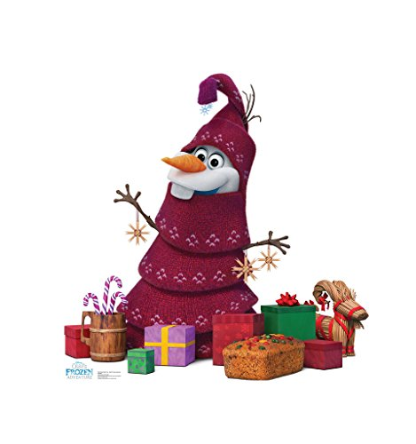 Olaf Knitted Tree - Olaf's Frozen Adventure (2017 Short Film) - Advanced Graphics Life Size Cardboard Cutout Standup