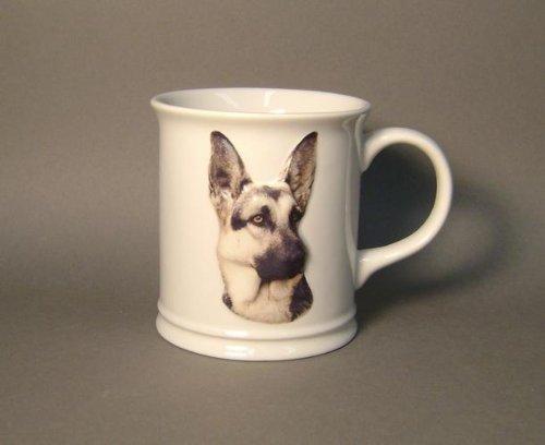 11 Oz Sculpted Ceramic Mug - German Shepard Sculpted Ceramic Mug