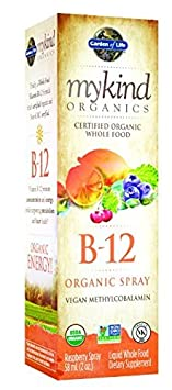 Garden of Life mykind Organics Organic B-12 Spray, 2oz Spray 2-Pack