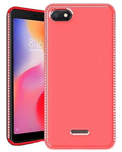 new york 4ff29 0e825 RidivishN Back Cover for Mi Redmi 6A / Air Cussion Technology Ultra Thin  Shock Proof Flexible Back Cover case for Redmi 6A (Cool Red)