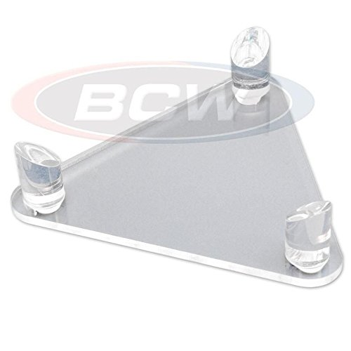 (BCW Deluxe Acrylic Ball Stand - Hold Football, Basketball, Volleyball or Soccer Ball - Display Stand or Holder)