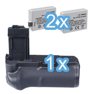 450D inkl 2x ayex LP-E5 Akku ayex Akkugriff Batteriegriff AX-500D//1000D f/ür Canon EOS 1000D 500D /ähnlich wie BG-E5
