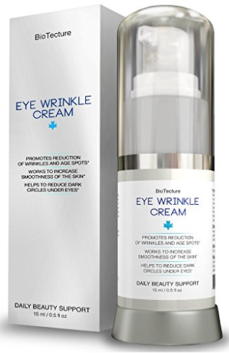 Eye Wrinkle Cream - Best Daily Support Formula for your Face. Anti-Aging Skin Care with Retinol. Helps Reduce Wrinkles and Age Spots, Minimizes Dark Circles - for Ageless Beauty! 100% Money Back!