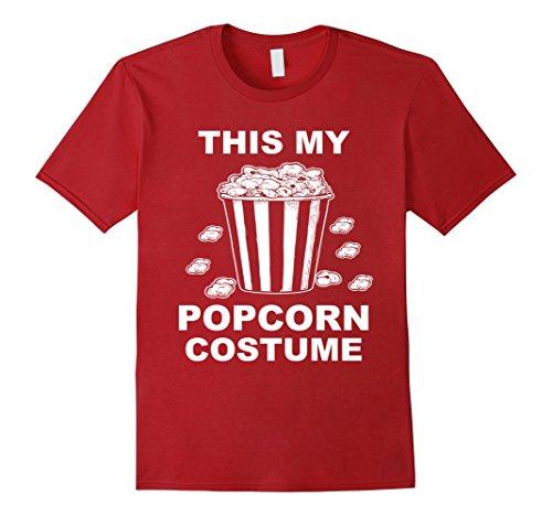 Mens Popcorn Costume Popcorn T Shirt Medium Cranberry ()