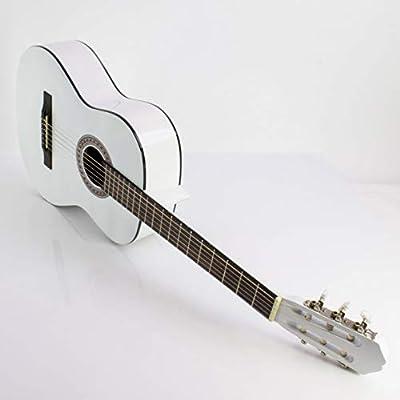 Guitarra de concierto FIDEL con bolsa para llevar, 4/4, blanca ...