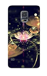Crazinesswith Durable Water Lilies Back Case/ Cover For Galaxy S5 For Christmas' Gifts
