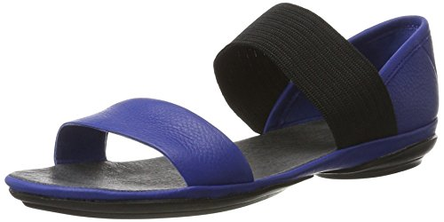Camper Donna Destra Nina 21735 Mary Jane Flat Blu Medio 1