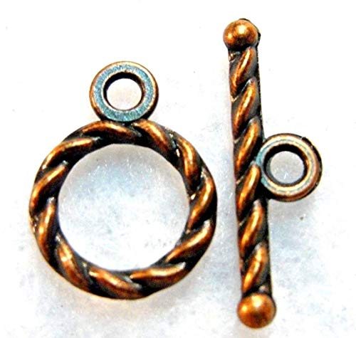 50Sets Wholesale Tibetan Antique Copper Round Toggle Clasps Connectors Q0773 Crafting Key Chain Bracelet Necklace Jewelry Accessories Pendants