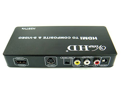 (ViewHD HDMI to TV Composite RCA AV + S Video Converter | Include AV & S Video Cables + AC Power Adapter | Model: H2STVs)