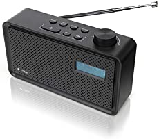DAB/DAB+ Digital & FM Radio, Rechargeable Battery and Mains Powered DAB Radios Portable Digital Radio with USB Charging
