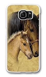 Gentle Touch Horse Polycarbonate Hard Case Cover for Samsung S6/Samsung Galaxy S6 Transparent