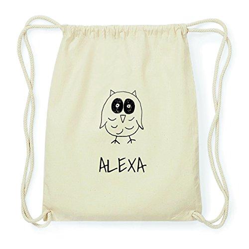 JOllipets ALEXA Hipster Turnbeutel Tasche Rucksack aus Baumwolle Design: Eule mLgGr