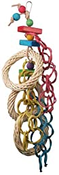 Super Bird Creations 21 by 6-Inch Three Ring Circus Bird Toy, Large