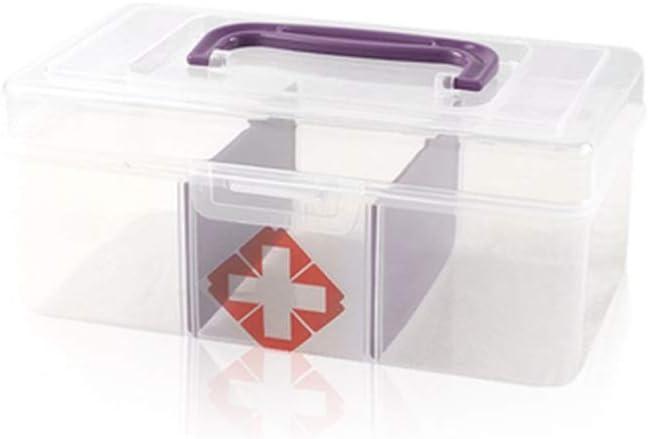 SGLI Pequeña Caja De Medicina Transparente, Caja De Almacenamiento ...