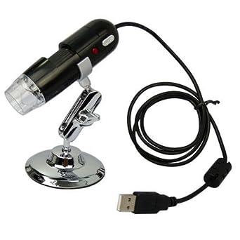 AGPtek®  Black USB Digital Microscope 2 Mega Pixel Video Camera Microscope 20-200X