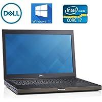 Dell M6800 Precision 17 Laptop Mobile Workstation, i7 upto 3.7GHz Quad Core, 16GB DDR3, 500GB SSD & 500GB HD, USB 3.0, Windows 10 Pro, Nvidia Quadro K4100M 4GB (Certified Refurbished)