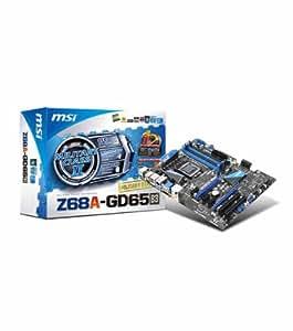 MSI Z68A-GD65 (B3) LGA1155 Intel Z68 B3 DDR3 CrossFireX & SLI SATA3 and USB 3.0 A&GbE ATX Motherboard