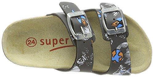 Superfit Fussbettpantoffel - Pantuflas Niños Grau (Stone Multi)