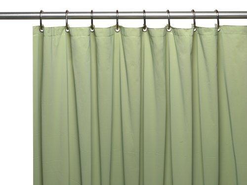 sage green shower curtain - 5