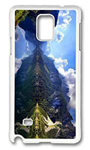 MOKSHOP Adorable austrian mountain lake scenery Hard Case Protective Shell Cell Phone Cover For Samsung Galaxy Note 4 - PC White