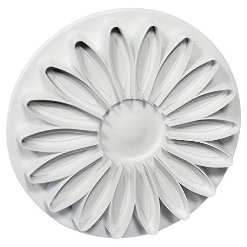 PME SD616 Veined Sunflower/Gerbera & Daisy Extra Large Plunger Cutter, Standard, White