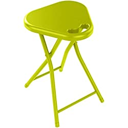 dar Living Folding Stool with Handle, Lime Green (4-Pack)