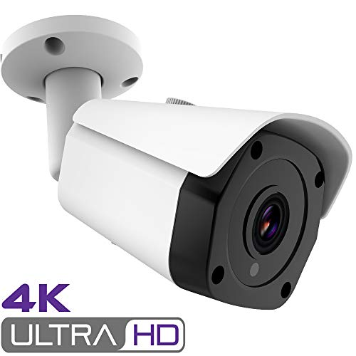 4K H.265+ Ultra HD PoE IP Security Camera, 8MP 20fps Incredible Clear IR Night Vision, MicroSD Recording, Cloud, Outdoor Waterproof Onvif Home Video Surveillance Bullet Cameras