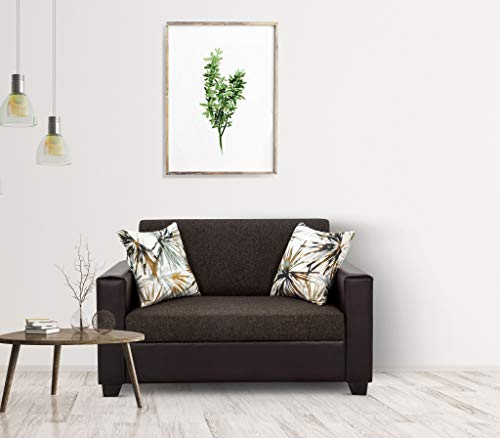 Urban Living Lucy Greenville 2 Seater Sofa   Brown