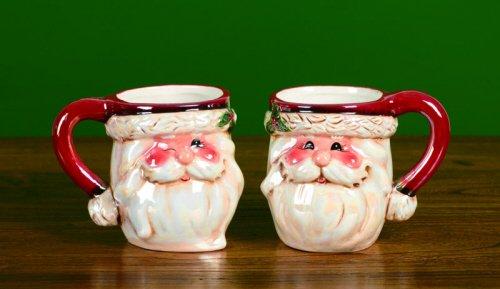Santa Claus Coffee Mugs, Set of Two